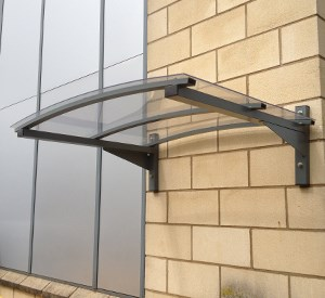 Door Canopy-AL & Wall Fixed Lightweight Galvanised Steel Door Canopy-AL