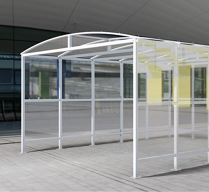 Double Trolley Shelter For Retail External Environments
