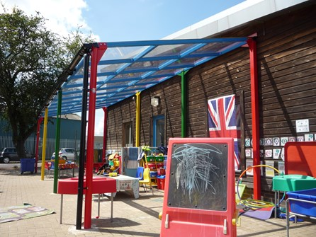 Bespoke Canopy designed for Lansdowne Primary Academy article image